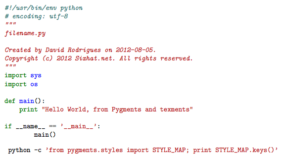 Latex: Easy Code Syntax Highlight with pygments and texments